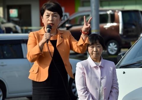 福島瑞穂参議院議員を迎えて 姫野あつこ街頭演説会