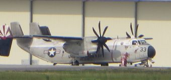 ロナルドレーガンの艦載機、C2輸送機グレイハウンドが海上に墜落